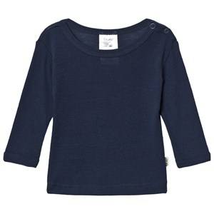 Celavi Unisex Underwear Navy Wool Sweater Navy