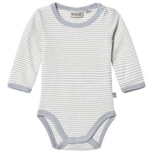 Wheat Unisex All in ones Grey Stripe Baby Body Dusty Dove