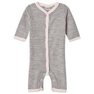 Wheat Girls All in ones Pink Stripe One-Piece Peony