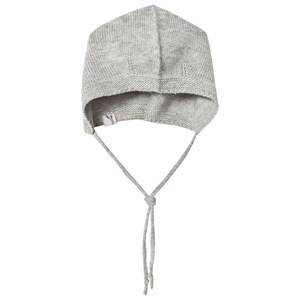 Wheat Unisex Headwear Grey Knitted Baby Hat Grey Melange
