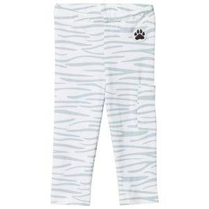 Little LuWi Unisex Commission Bottoms White Leggings Blue Tiger Print