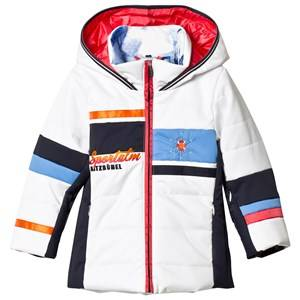 Sportalm Unisex Coats and jackets White White Color Block Hooded Jacket