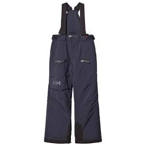 Helly Hansen Boys Bottoms Blue Junior Powder Ski Pants Graphite Blue