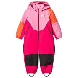 Helly Hansen Girls Coveralls Pink Kids Rider Ins Ski Suit in Pink