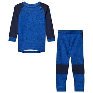 Helly Hansen Boys Baselayers Blue HH® Lifa Merino Kids Baselayer Set Olympian Blue
