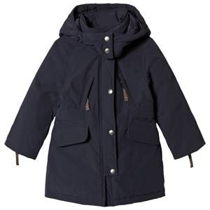 Ver de Terre Girls Coats and jackets Navy Eskimo Down Coat Navy