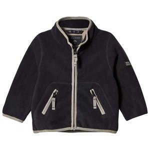 Ver de Terre Unisex Fleeces Navy Double Face Fleece Jacket Navy/Mocca