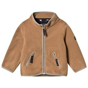 Ver de Terre Unisex Fleeces Brown Double Face Fleece Jacket Hazelnut/Navy
