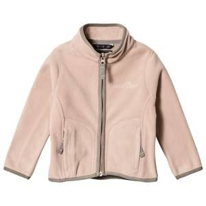 Ver de Terre Girls Fleeces Pink Double face Fleece Jacket Mahogany Rose/Mocca