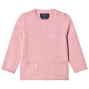 Ralph Lauren Girls Tops Pink Wool Pocket Sweater Pink