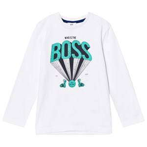 Boss Boys Tops White White Logo Tee