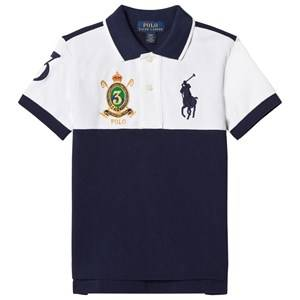Ralph Lauren Boys Tops White White and Navy Short Sleeve Polo