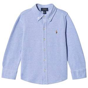 Ralph Lauren Boys Tops Blue Blue Soft Mesh Shirt