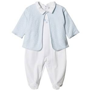 Kissy Kissy Boys Clothing sets Blue Star Print Jacket and Baby Body Set Pale Blue