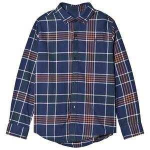 Mayoral Boys Tops Navy Navy Check Print Shirt