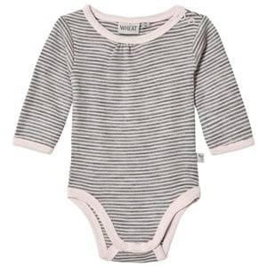 Wheat Girls All in ones Pink Stripe Baby Body Peony