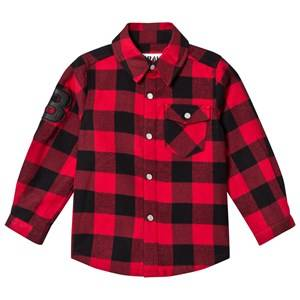 The BRAND Boys Private Label Tops Red Flannel Shirt Red Check