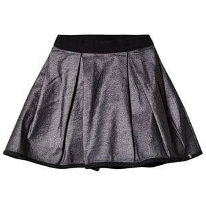 IKKS Girls Skirts Silver Silver Metallic Skirt Reversible into Black Satin