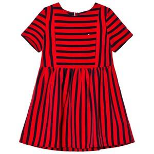 Tommy Hilfiger Girls Dresses Red Red Stripe Dress