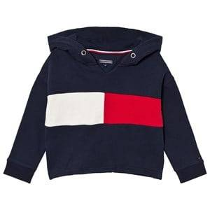 Tommy Hilfiger Girls Jumpers and knitwear Navy Navy Branded Flag Hoodie
