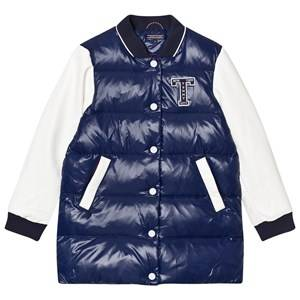 Tommy Hilfiger Girls Coats and jackets Navy Navy and White Down Longline Bomber Jacket