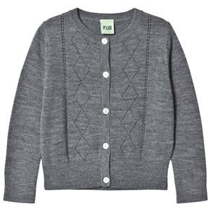 FUB Unisex Jumpers and knitwear Grey Pointelle Cardigan Grey