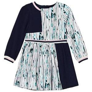 No Added Sugar Girls Dresses Purple Lilac and Navy Pleated Long Sleeve Dress