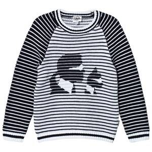 Karl Lagerfeld Kids Girls Jumpers and knitwear Black Knitted Karl and Choupette Sweater