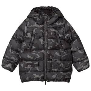 Il Gufo Boys Coats and jackets Green Camo Down Filled Hooded Coat