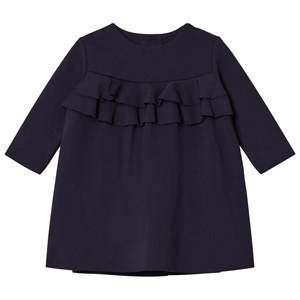 Il Gufo Girls Dresses Navy Navy Milano Frill Front Dress