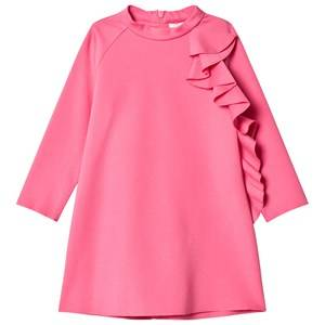 Il Gufo Girls Dresses Pink Fuchsia Frill Detail Milano Dress