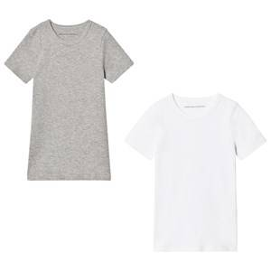 United Colors of Benetton Boys Underwear White Vest Tops (2 Pack) Grey/White