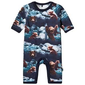 Me Too Unisex All in ones Navy Navy Night One-Piece Bear