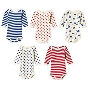 Petit Bateau Unisex All in ones White 5 Pack Baby Body