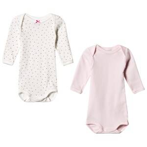 Petit Bateau Unisex All in ones White 2 Pack Baby Body