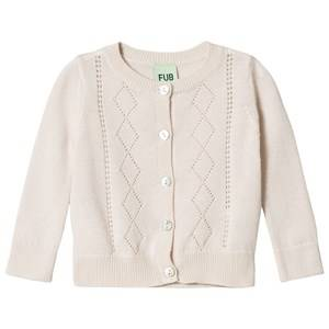 FUB Unisex Jumpers and knitwear White Baby Pointelle Cardigan Ecru