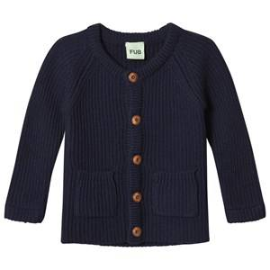 FUB Unisex Coats and jackets Blue Baby Knit Jacket Navy