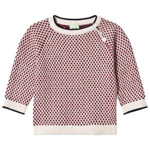 FUB Unisex Jumpers and knitwear Blue Baby Rhombus Sweater Ecru/Navy/Red