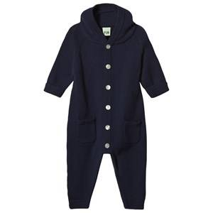 FUB Unisex All in ones Blue Knit Onesie Navy