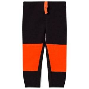United Colors of Benetton Boys Bottoms Black Colour Block Jogger With Knee Patches Detail Black