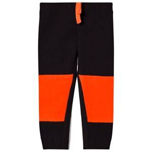 United Colors of Benetton Boys Bottoms Black Color Block Joggers with Knee Patches Detail Black