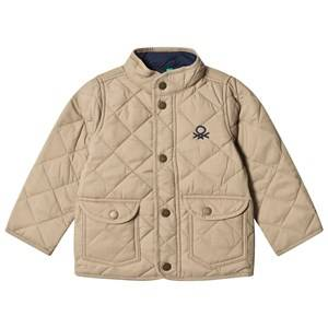 United Colors of Benetton Boys Coats and jackets Beige Quilted Barn Jacket with Logo Beige