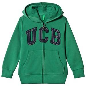 United Colors of Benetton Boys Jumpers and knitwear Green Jersey Logo Zip Hoodie Green