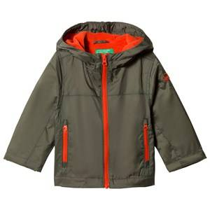 United Colors of Benetton Boys Coats and jackets Green Fleece Lined Windbreaker Jacket Khaki