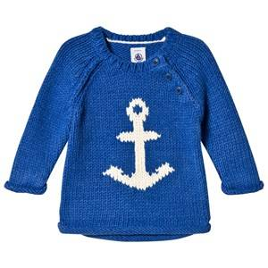 Petit Bateau Unisex Jumpers and knitwear Blue Knitted Sweater Blue