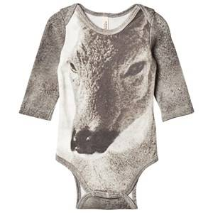 Popupshop Unisex All in ones Grey Fawn Baby Body