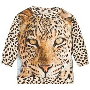 Popupshop Unisex Jumpers and knitwear Beige Leopard Loose Sweatshirt