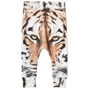 Popupshop Unisex Bottoms Beige Tiger Baggy Leggings