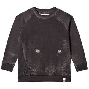 Popupshop Unisex Jumpers and knitwear Black Basic Sweat Panther