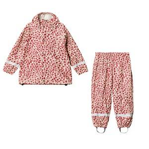 Popupshop Unisex Clothing sets Red Red Leopard Rain Set
